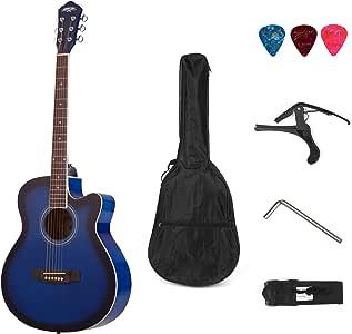 Muslady 40 pulgadas Cutaway Guitarra Folk Acústica 6 Cuerdas ...