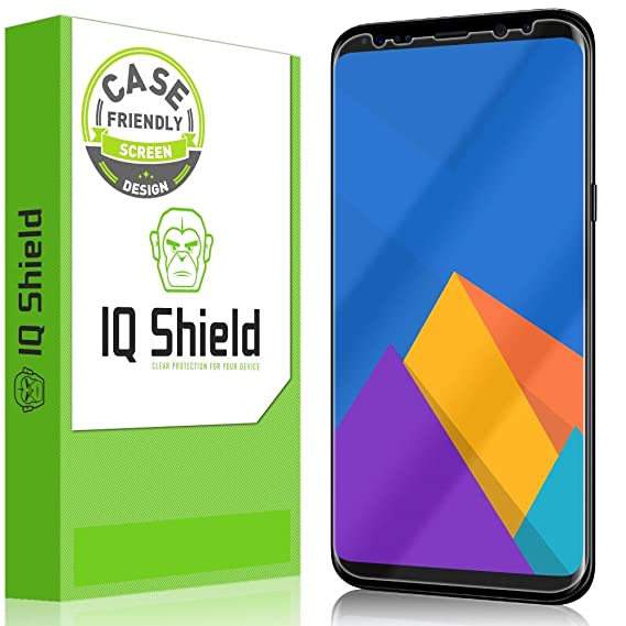 pretty nice 99b6c 6bb91 Galaxy S8 Plus Screen Protector (Not Glass), IQ Shield LiQuidSkin Full  Coverage Screen Protector for Samsung Galaxy S8 Plus (Case Friendly) HD  Clear ...