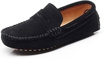 0adb634879d Shenn Boys  Cute Slip-On Suede Leather Loafers Shoes S8884