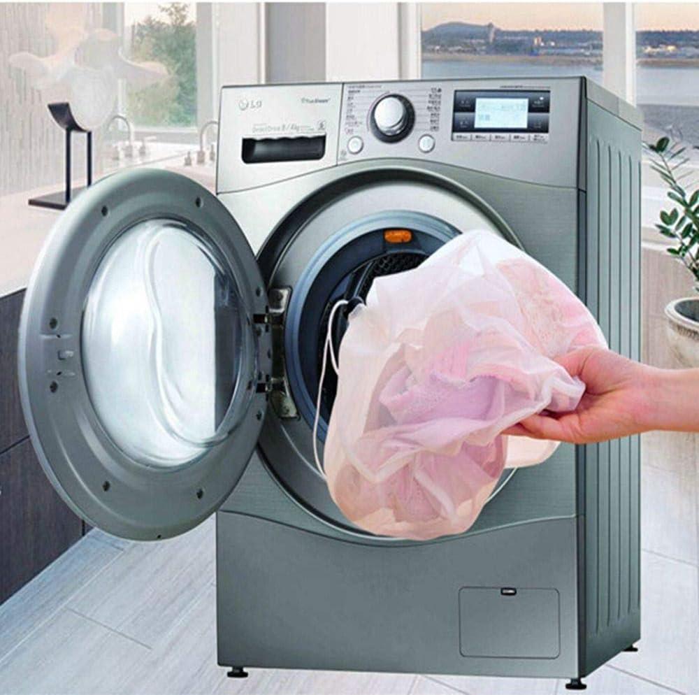 Milter Drawstring Mesh Wash Bag for Washing Machine,Thickened Home Large Underwear Washing Bags,Mesh Net Wash Packet S