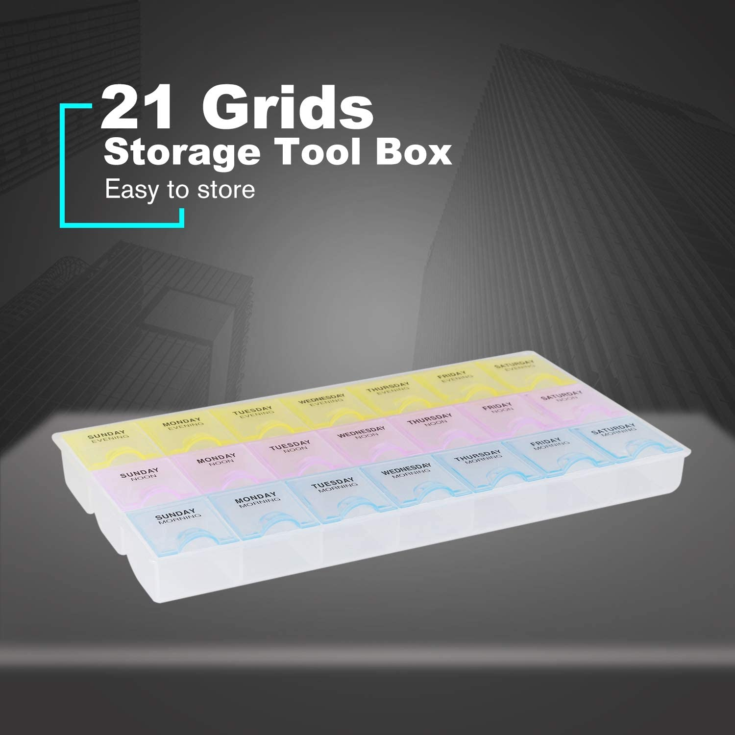 5 Grids Tools Casket Packaging Box Electronic Components Chips Screw Container Protable Storage Screw Jewelry Tool Case
