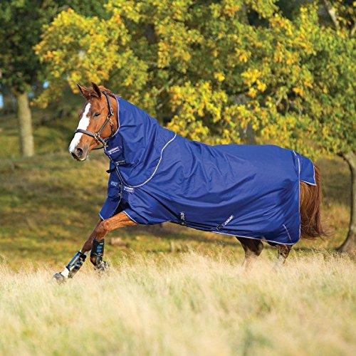 Horseware Regendecke Amigo Hero 6 Plus 160cm ohne Füllung Atlantic Blue / Atlantic Blue & Ivory