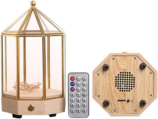 Caja de música Bluetooth de Madera sólida con luz de Cristal Transparente Pantalla de Carga Caja de música Día de San Valentín/Navidad/Regalo de cumpleaños: Amazon.es: Hogar