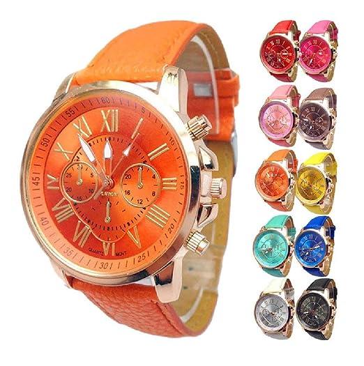 58a33c48061e Malloom® Lujo Moda cocodrilo Cuero de imitación Hombres Hombres analógico  Relojes de Pulsera Azul (