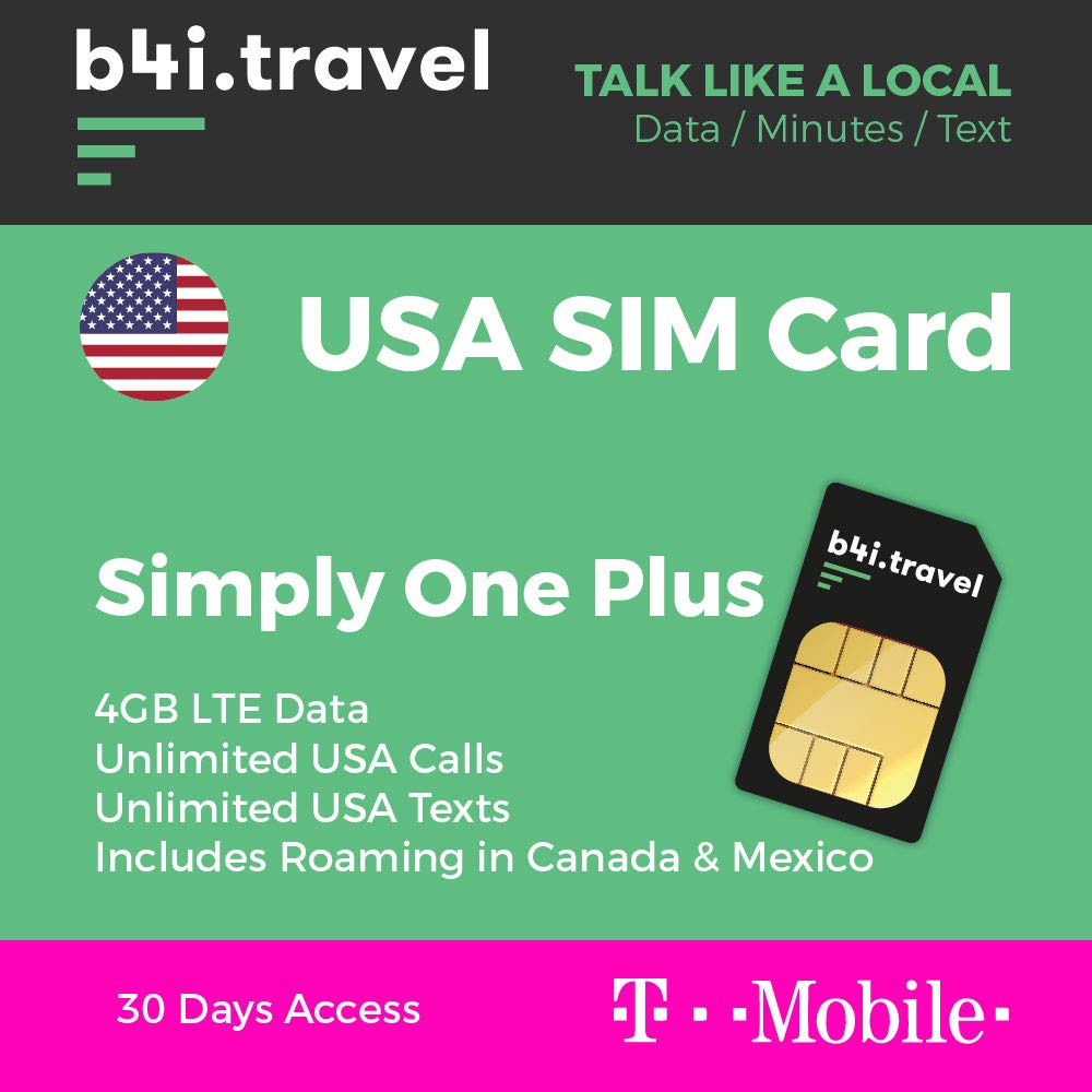 T-Mobile - Tarjeta SIM prepagada de 4 GB LTE, Llamadas ...