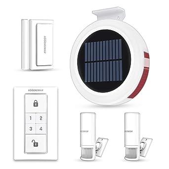 Alarma de Seguridad Inalámbrico GSM Solar, Sistema de Alerta de Entrada de Coche de Alarma