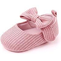 Infant Baby Shoes Soft Sole Mary Jane Flats Bowknot Ballerina Princess Wedding Dress Prewalker Crib Shoes Baby Sneaker…