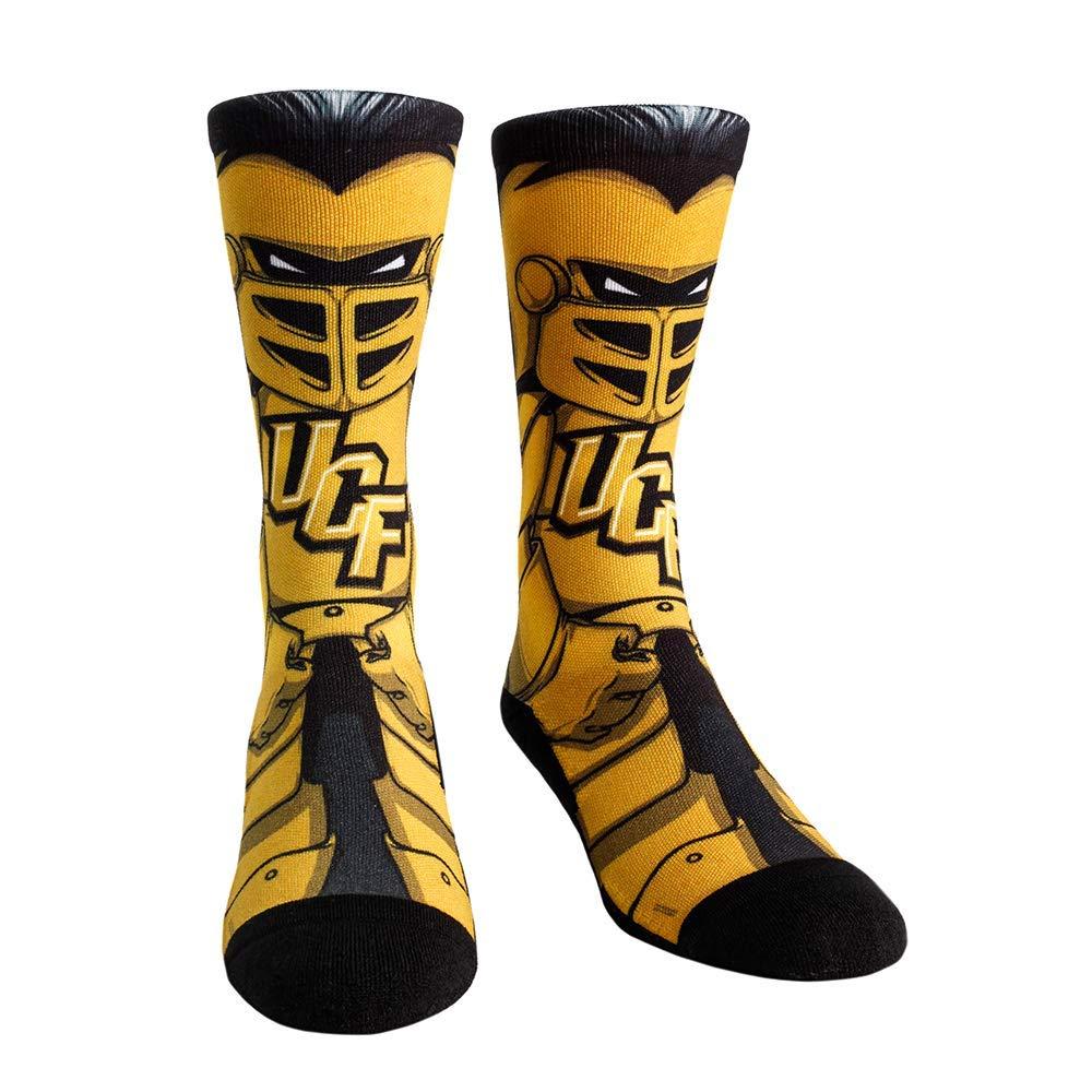 NCAA Super Premium College Fan Socks L//XL, UCF Knights - Mascot Knightro