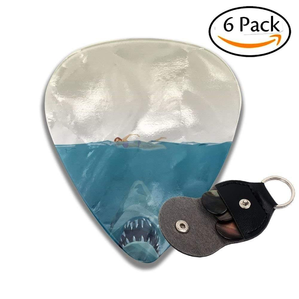 Water Shark Graphics Classic Guitar Picks For Electric/acoustic Guitar,and Bass