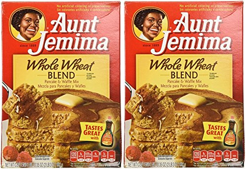 Aunt Jemima Whole Wheat Pancake Mix - 35 oz - 2 pk (Whole Mix Pancake Grain)