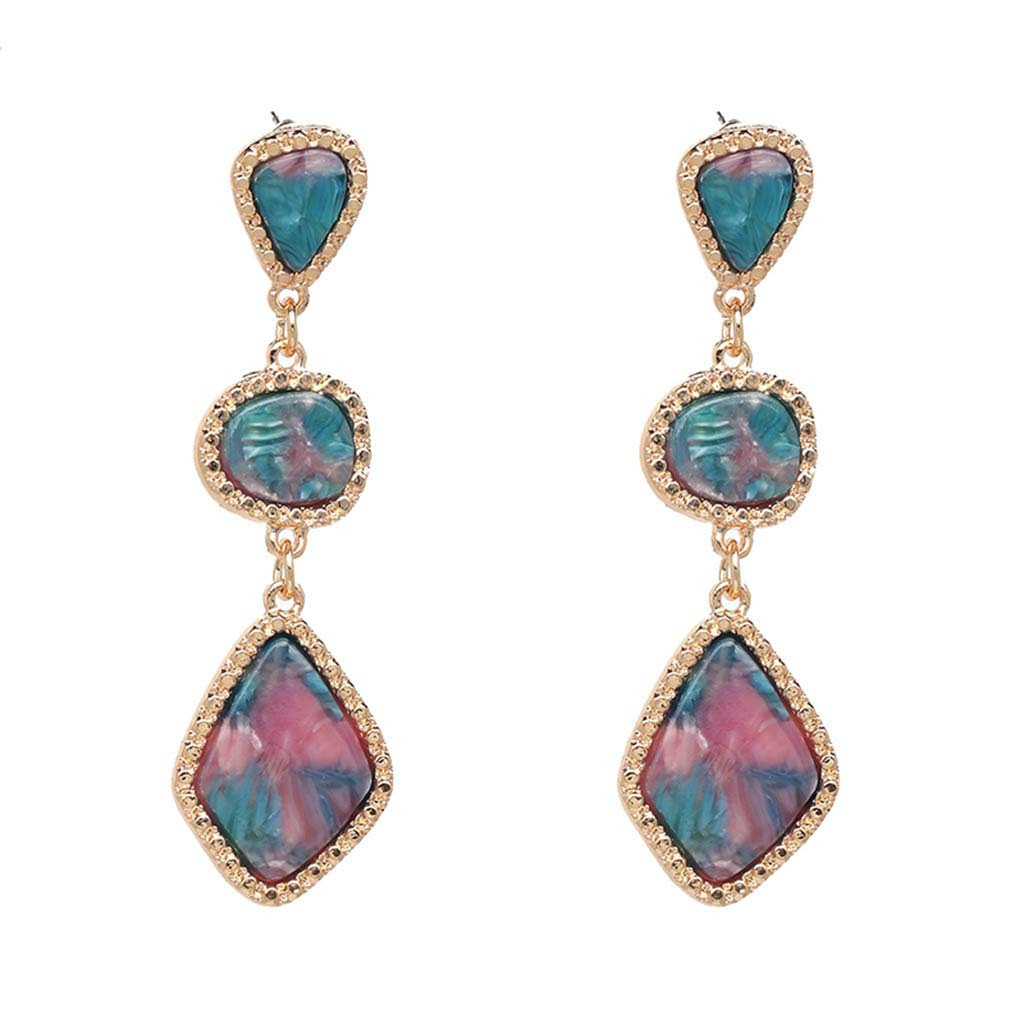 Hot 8 c olors Manufacturing Plant Price Wholesale Resin Earring Statement Water Drop Style Drop Earrings