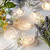 Battery Operated Sunflower String Lights with 10 Warm White LEDs