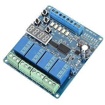 Módulos De Relés De 4 Canales A Dc 8 36v Con Optoacoplador Para Arduino Uno R3 Kit Mega 2560 Proyecto 1280 Dsp Arm Pic Avr Stm32 Raspberry Pi