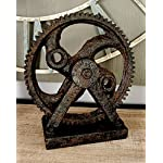 Deco 79 Poly-Stone Gear Decor, 9 by 8-Inch 8