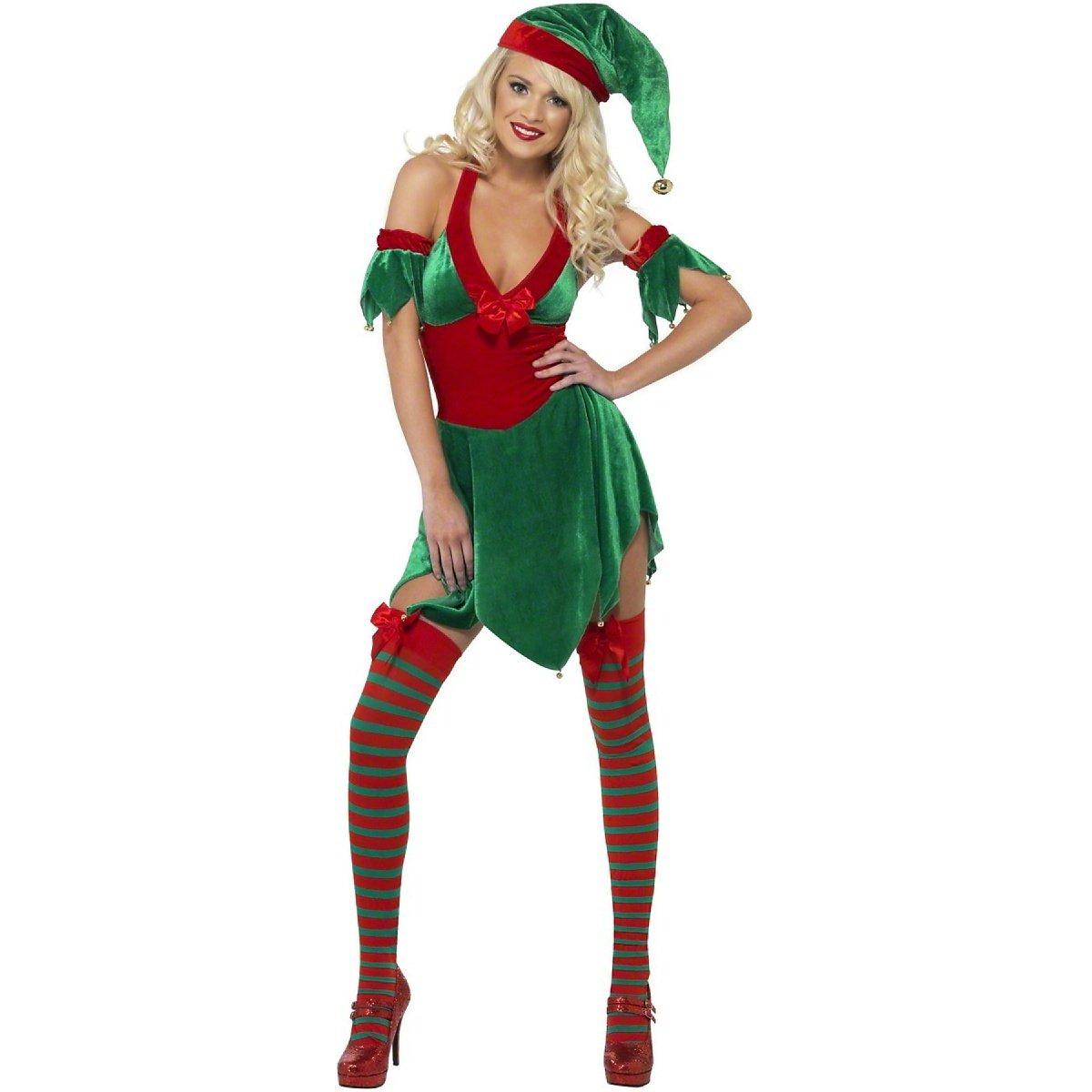 Größe 8-10, Ladies -  Größe 8-10 Sexy Wichtelkostüm Weihnachten für Damen - S