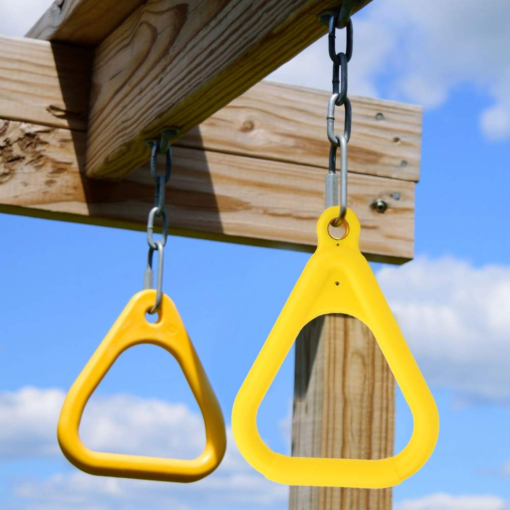Alomejor Pull Up Ring Kids Gymnastic Rings for Upper Body Strength Fitness Training Exercise Pull Ups Crossfit