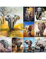 DIY olifant 5D diamant schilderij volledige vierkante/ronde boor dier diamant borduurwerk borduurpakketten mozaïek Home decor kunst aan de muur