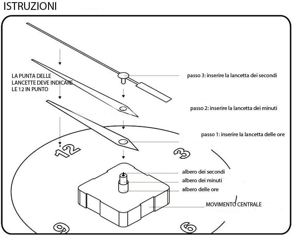 Mecanismo de movimiento o engranaje para reloj de cuarzo de pared ...