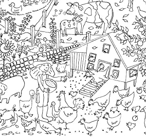 Amazon.com: Really Giant Posters Farm Coloring Poster - Really ...