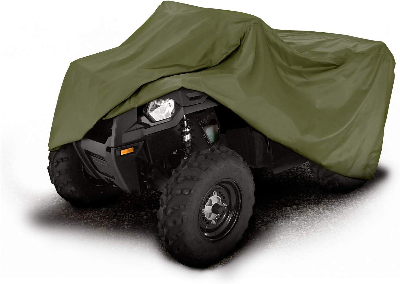 L Camo 190T WaterProof Quad Bike Tractor ATV Storage Cover Fit for Polaris Honda