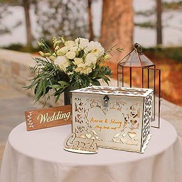 Amazon.com: O-heart - Caja para tarjetas de boda con ...