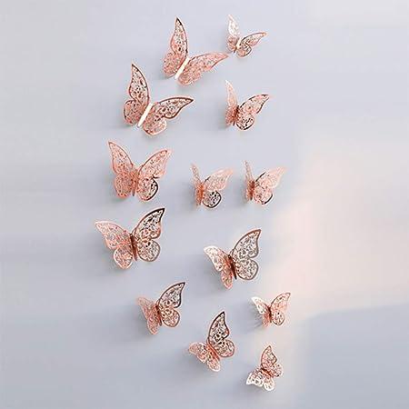 UCAI - Adhesivos 3D Huecos para Pared, diseño de Mariposas, para ...
