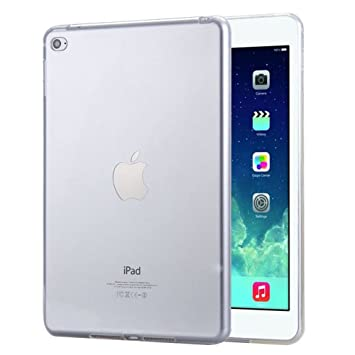FAS1 iPad Air 1 Funda, Transparente Suave TPU Silicona Carcasa Trasera Protector para Apple iPad Air 1 (Transparente)