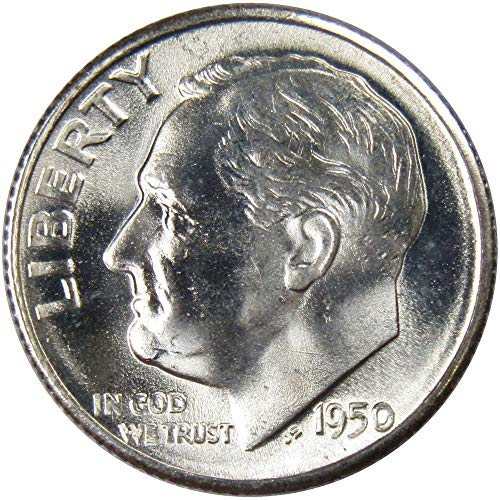 (1950-S 10c Roosevelt Silver Dime Uncirculated Mint State)