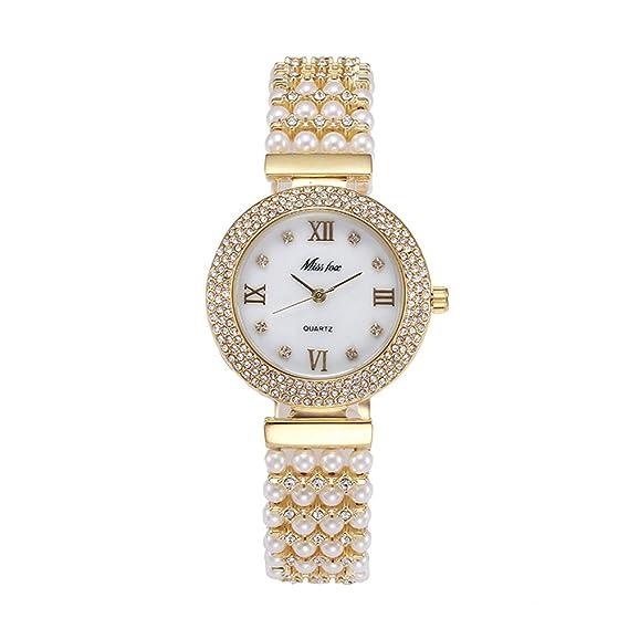 orologio con bracciale di perle