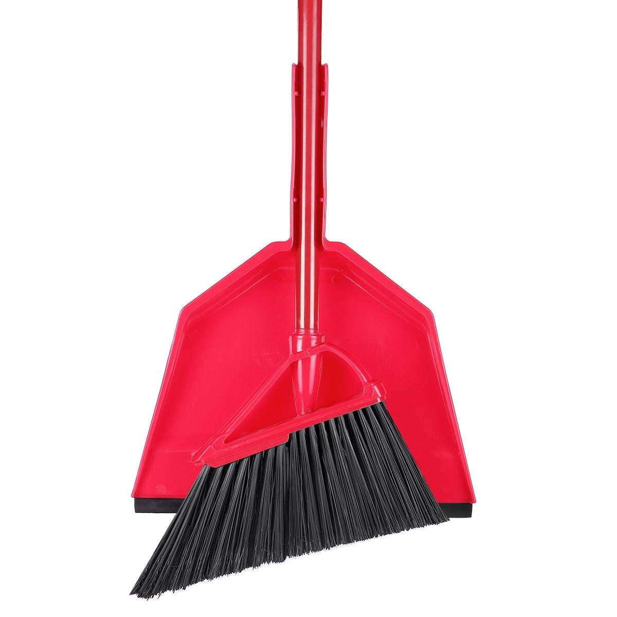 Angle Broom Dustpan Set Rubber Lip Detachable Hand Broom Indoor Outdoor Floor Sweeper Lobby Kitchen Patio Garden Garage Shop Hair Salon by Iamagie (Image #9)