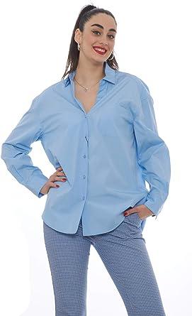 Weekend MaxMara - Camisa para Mujer Azul Claro 38: Amazon.es: Ropa y accesorios