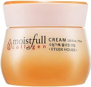 ETUDE HOUSE Moistfull Collagen Cream 2. 5 fl. oz. (75ml)- Soft Moist Gel Type Moisturizing Facial Cream, 63. 4% Super Collagen Water & Bobab Water Makes Skin Plumpy with Long Lasting Moist