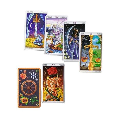 Tarot Familiars 78 Barajas Juego de Mesa Rueda del año Leer Carta del Tarot del Destino para Personal