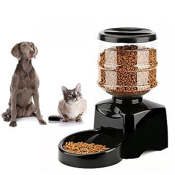 Alimentador automático de mascotas, perro y gato Desayuno / almuerzo / cena estación de alimentos o dispensador, ...