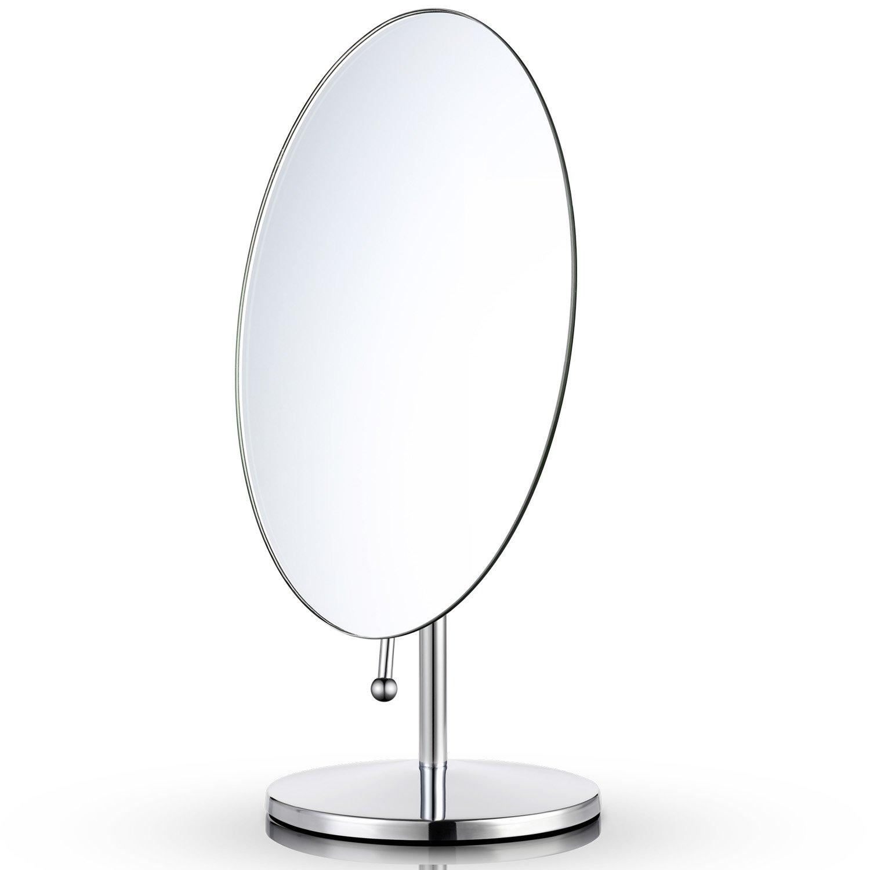 Miusco Specchio Per Trucco Da Tavolo, Ovale, 9.8x6.3 Pollici UKJS-PH9300016LIT1114