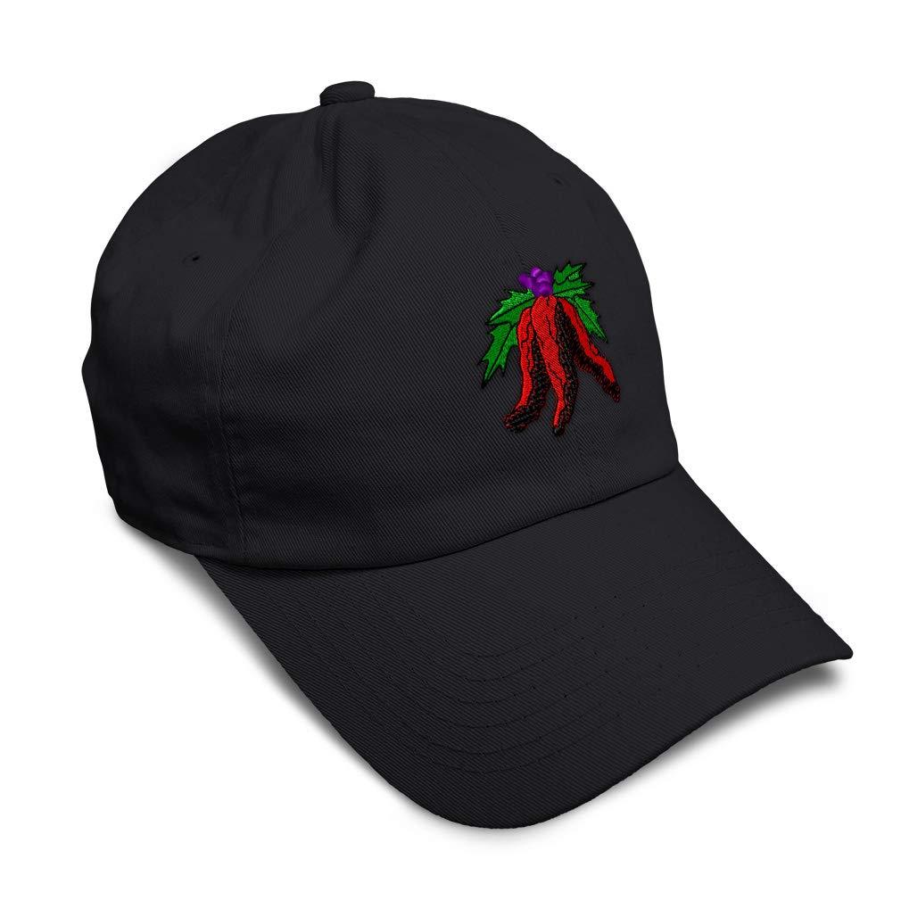 Custom Soft Baseball Cap Christmas Ristra Embroidery Dad Hats for Men /& Women