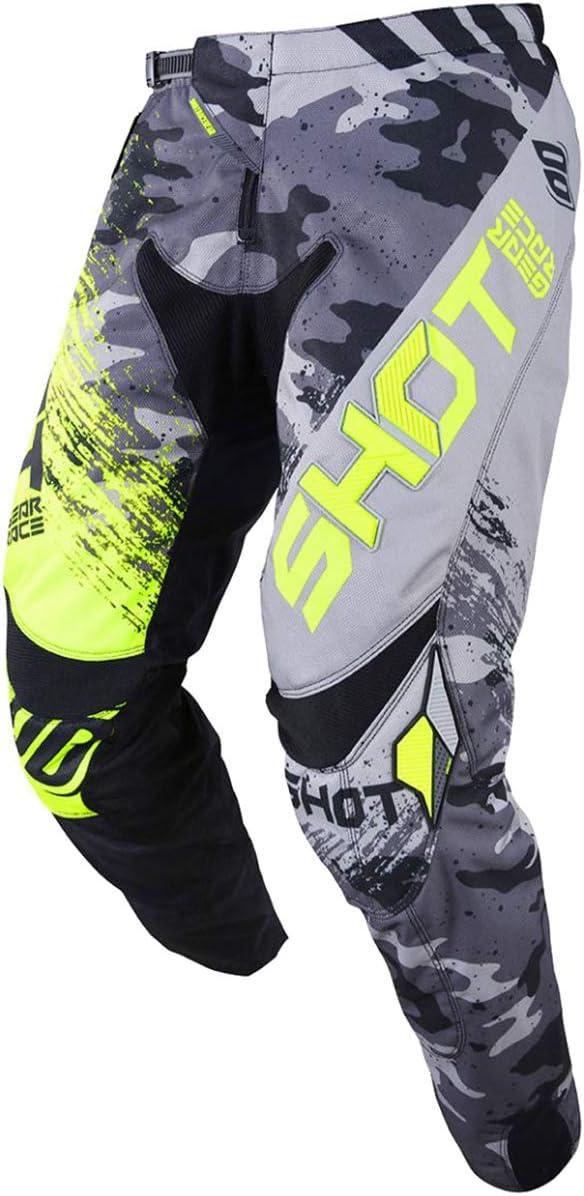 Shot Contact Air Mens Off-Road Motorcycle Pants 38 Grey//Neon Yellow