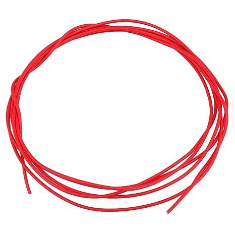 BQLZR rojo 150 cm Longitud Cobre Chapado En Plata guitarra potenciómetro circuito alambre de soldadura para
