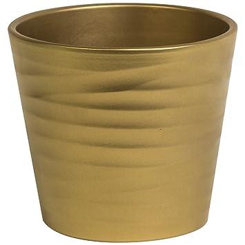 15cm Dune Gold Planter Decorative House Office Indoor Lightweight