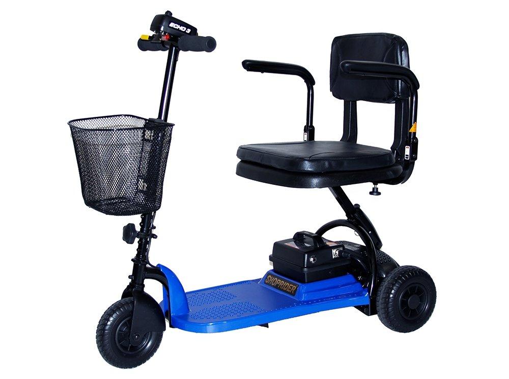 Shoprider Echo 3 Wheel Scooter, Blue, 70 Pound by Shoprider