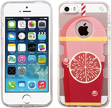 MyBat Case for Apple iPhone 5, iPhone Se - Retail Packaging - Grapefruit Soda-Summer Soda Collection