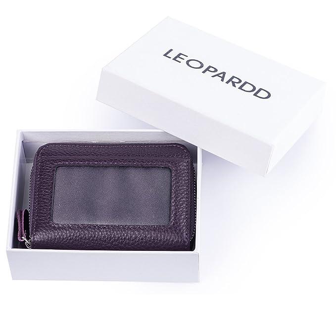 RFID - Cartera de piel para mujer, excelente soporte para ...