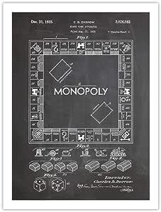 Póster de Monopolio juego de mesa pizarra patente de Estados Unidos Póster Impresión reproducción de 18 x 24 de regalo 1935: Amazon.es: Hogar
