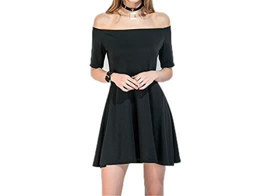 Twilaisaac Fashion sexy dress verde & preto off the shoulder bodycon fit e flare mulheres dress