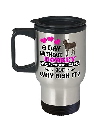 Amazon.com: Burro taza de viaje – Burro taza de café de ...