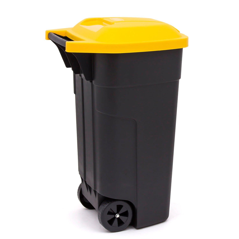 poubelle couvercle jaune les dchets recyclables bac jaune bouteilles plastiques papier journaux. Black Bedroom Furniture Sets. Home Design Ideas