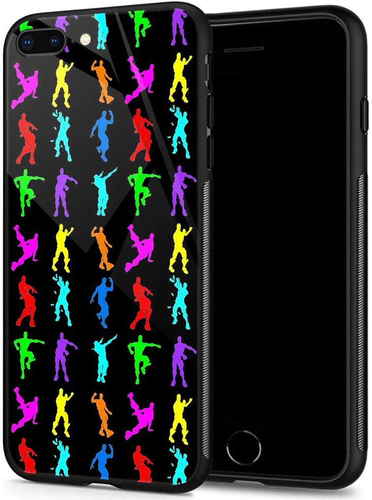 ANLUN STORE iPhone SE 2020 Case,Tempered Glass iPhone 8 Case,Colorful Little People iPhone 7 Cases [Anti-Scratch] Fashion Cute Cover Case for iPhone 7/8/SE2 4.7-inch Colorful Little People