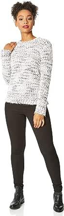 Roman Originals Suéter de punto suave para mujer, estilo vaquero, informal, para uso diario, relajado, para otoño e invierno, cálido y cómodo