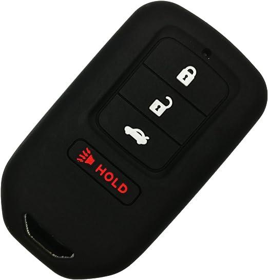 Wavemi for Honde Key Cover 2pcs Key Fob Cover Case Remote Holder Skin Glove for Honda Accord Civic Fit Pilot Odyssey CRV Clarity CRZ HRV Ridgeline EX EXL Smart Key