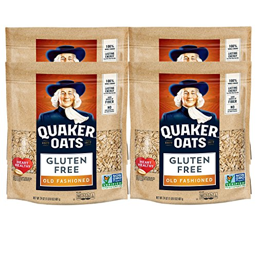 - Quaker Gluten Free Oats, Old Fashioned, 24oz bag, 4 Bags